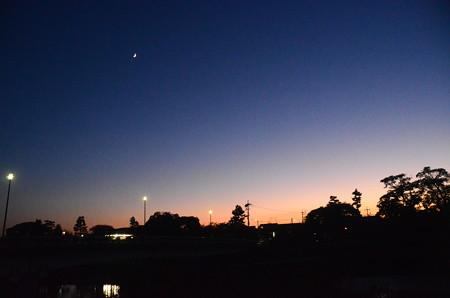 賀茂川の夕暮れ