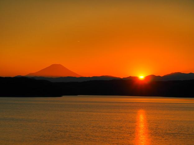始まりの日の日没