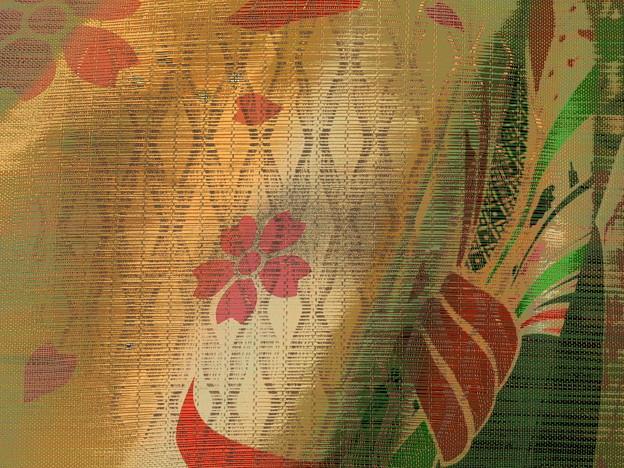 桜舞う着物