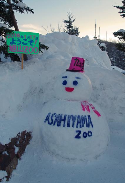 旭山動物園にあった雪だるま