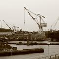 写真: 呉中央桟橋からの風景