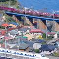 新幹線と在来線の競演