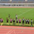 写真: ジェフレディース、ピッチアップ開始ψ(`∇´)ψ対戦相手、日体大FIELDS横浜の大賀ちゃん&千晴は揃ってスタメンの模様。