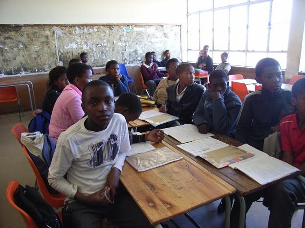 SOWETOの中学校の教室