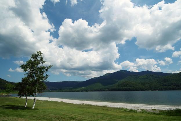 これから夏の金山湖