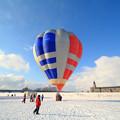 写真: 冬の気球1