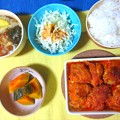 Photos: タンドリーチキン定食風
