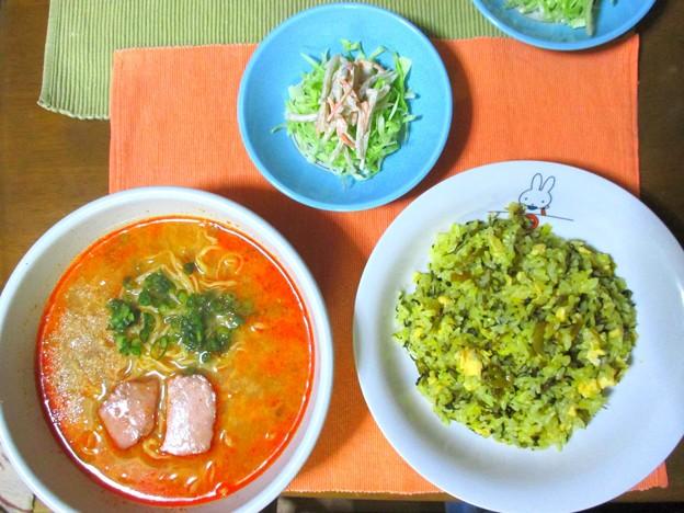 担々麺&高菜炒飯