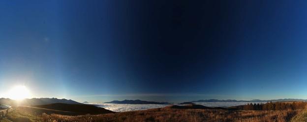 雲海の上の富士を見に車山に