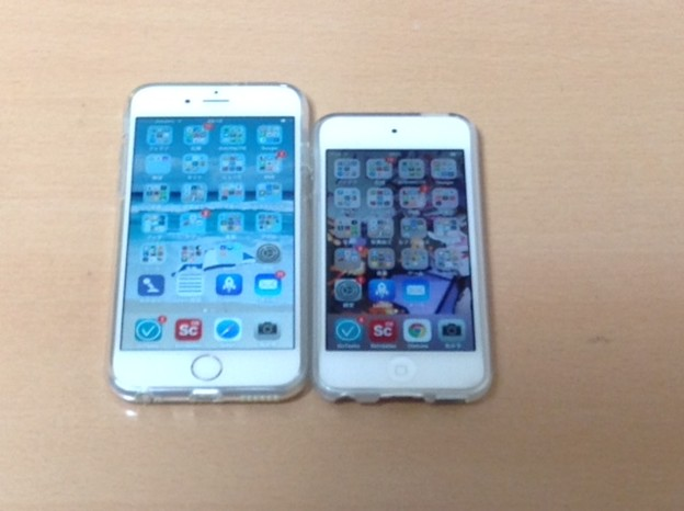Photos: 20141005iPhone6とiPod touch