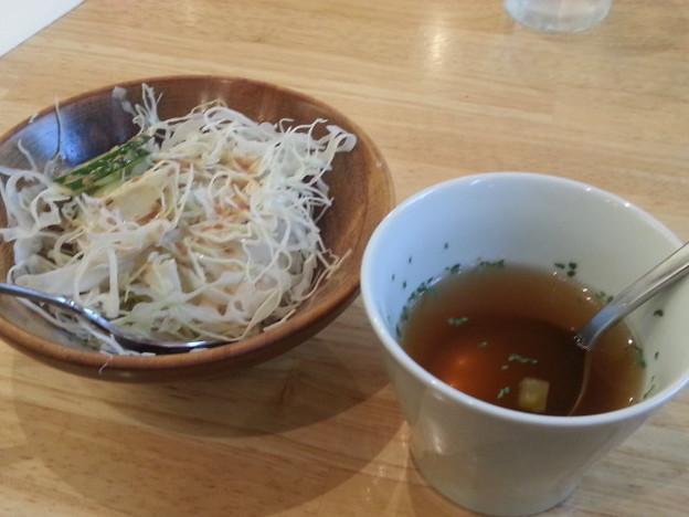 20140819 13.37.55 布袋 - 喫茶みかど - スパゲッティーランチの前菜
