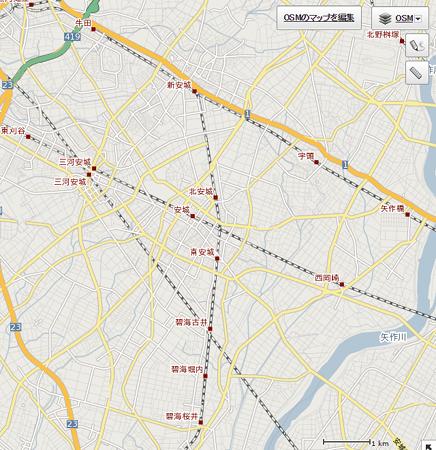 OSM地図