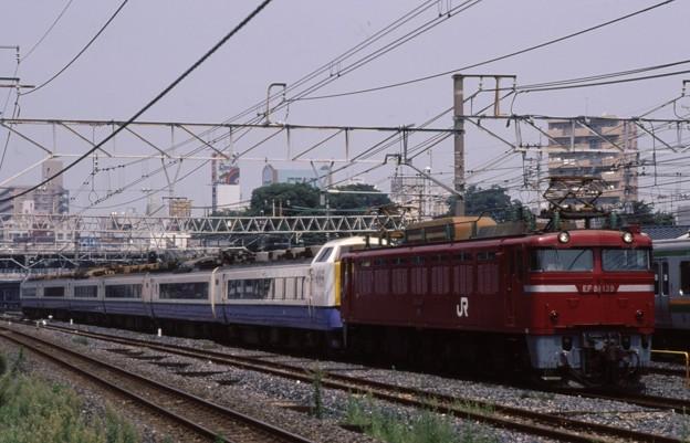 東北貨物線 EF81-139+485系x6 - ...
