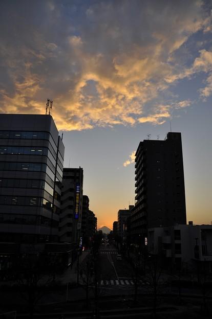 Photos: 12月21日、日没後の富士見テラスから(1)