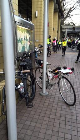 自転車たち 逗子市役所前に集結