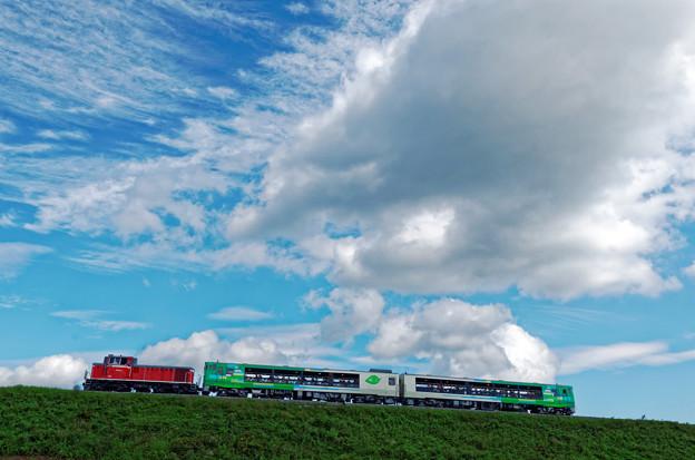 高原列車が往く。