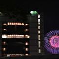 静岡駅前で見た花火