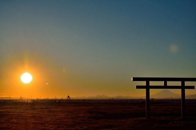 久津間海岸の夕暮れ