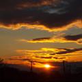 Photos: 窓からの夕日