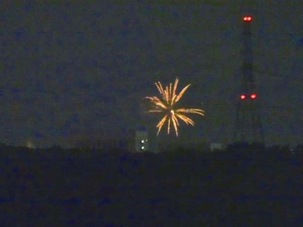 小牧市東部から見えた、「ながくて納涼まつり 2014」の花火 - 04