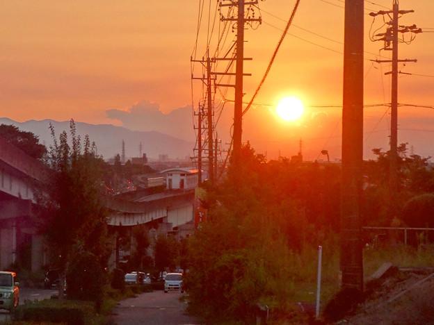 夕日と旧・上末駅