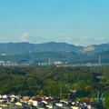 スカイワードあさひ No - 022:展望室からの眺め(弥勒山、道樹山、高座山)