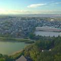 写真: スカイワードあさひ No - 058:展望室からの眺め(長池と城山小学校)