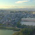 写真: スカイワードあさひ No - 059:展望室からの眺め(長池と城山小学校)