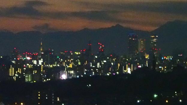 写真: スカイワードあさひ No - 110:展望室からの夜景(名古屋テレビ塔と名駅ビル群)