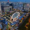 写真: 名古屋テレビ塔からの夜景 No - 14:オアシス21周辺