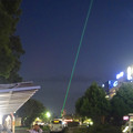 写真: 久屋大通公園のレーザー光