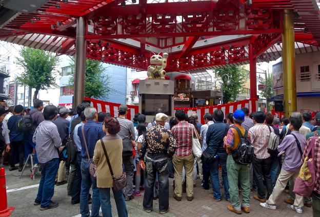 大須大道町人祭 2015 No - 17:大勢の人で賑わう招き猫広場