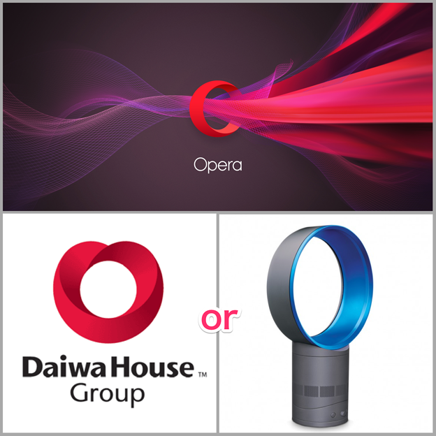 【ネタ】Operaの新しいロゴ:似てるのはどっち?