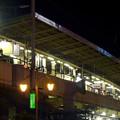 写真: 西口から見上げた、夜の名古屋駅新幹線ホーム - 2