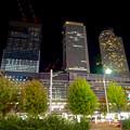 写真: 名駅西口から見た、夜の名駅ビル群 - 1