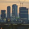 写真: エアポートウォーク名古屋から見た、夕暮れ時の名駅ビル群 - 5