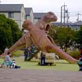 写真: 大高緑地公園 No - 10:恐竜型の滑り台!?