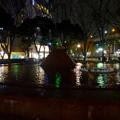 写真: 名古屋テレビ塔に向けてレーザー光線を出している、久屋大通公園噴水のピラミッド - 1