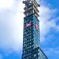 写真: ささしまライブ24:建物はほぼ完成した(?)「中京テレビ社屋」 - 22:電波塔に「チュウキョ~くん」