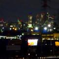 写真: 国道19号(春日井市内)から見下ろした、夜の名駅ビル群 - 2