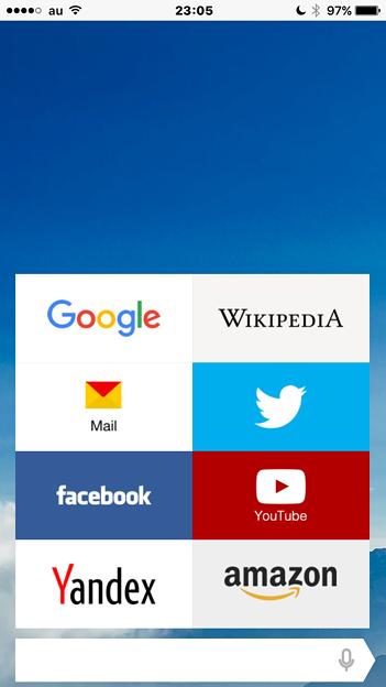 Yandex Browser 16.2 No - 9:スピードダイヤル風機能「タブロー」