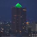 写真: 名古屋城天守閣 最上階から見た、「アンビックス志賀ストリートタワー」のピラミッド形のイルミネーション - 3