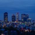 写真: 名古屋城天守閣 最上階から見た、夜の名駅ビル群 - 3