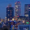 写真: 名古屋城天守閣 最上階から見た、夜の名駅ビル群 - 5