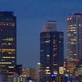 写真: 名古屋城天守閣 最上階から見た、夜の名駅ビル群 - 8