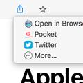 Photos: Mac用RSSリーダーアプリ「Leaf」- 7:SNS等で共有、他