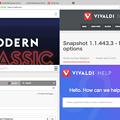 写真: Vivaldi 1.0:タブタイリング - 5(4つのタブを並べて表示!)