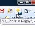 写真: Chromeエクステンション:Mini Weather