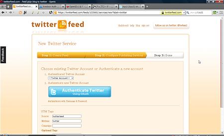 twitterfeed(New Twitter Service)