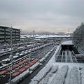 写真: 雪の桃花台